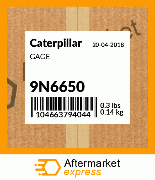 GAGE CATERPILLAR 9N6650