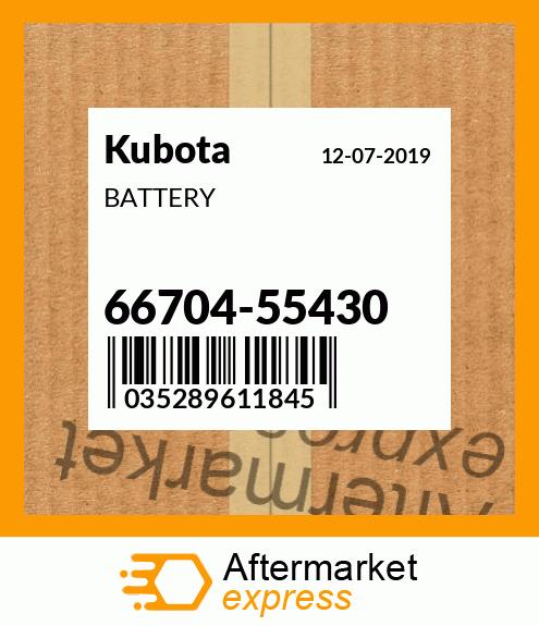 OEM Kubota  66704-55430 BATTERY